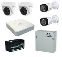 Комплект видеонаблюдения HiWatch DS-H104G / 2 камеры HiWatch DS-T133 / 2 камеры Dahua DH-HAC-HFW1000RP-0280B-S3