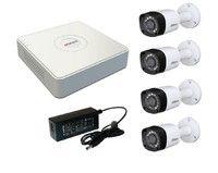 Комплект видеонаблюдения HiWatch DS-H104G / 4 камеры Dahua DH-HAC-HFW1000RP-0280B-S3