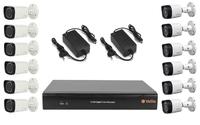 Комплект видеонаблюдения VeSta VHVR-6416 / 6 камер Dahua DH-HAC-HFW1000RP-0280B-S3 / 6 камер Dahua DH-HAC-HFW1100RP-VF-S3