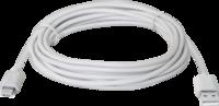 Кабель USB-MicroUSB, 3м, белый