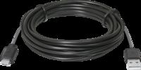 Кабель USB-MicroUSB, 3м, черный