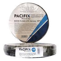 Кабель для видеонаблюдения ККСВ-П+2х0.5 PE Pacifix Norway - 40C 0.5BC+3.0F.P E +AL FOIL+48*0.12AL+5.0PE+2C(2*0.5CU+0.9PE (бухта 100M), с центральным проводником из чистой меди, с экраном в виде сплошной алюминиевой фольги и алюминиевой проволоки в виде оп