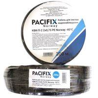 Кабель для видеонаблюдения КВК-П-2 2х0,75 PE Pacifix Norway -40C 7*0.178CU+2.1SPE+64*0.12CCA+4.1PVC+2*(16*0.24 CCA+1.7PE)+7.8PE (бухта 200M), с центральным проводником из качественной меди, с экраном в виде оплётки из омедненных алюминиевых жил
