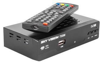 Ресивер Sky Vision T2206 HD DVB-Т2 (металлический корпус + дисплей)