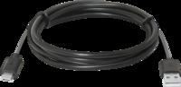 Кабель USB-MicroUSB, 1м, черный