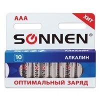 Батарейки алкалиновые SONNEN AAA (LR03)