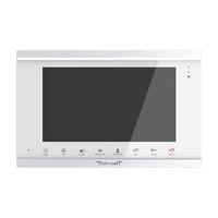 "IP видеодомофон TR-41 IP SW, 10"", Touch Screen, сеть: 10/100M, WiFi 10db (IEEE802.11b/g/n), квадратор, детектор движения, слот под SD-карту, 2 дверн.блока, 2 камеры, серебро/белый"
