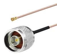 Адаптер N-male - UFL male. IG-UFL/N-F-230_RG178 – коммутационный кабель (пигтейл) с разъемами UFL/N-male, предназначенный для подключения антенны к радиомодулю