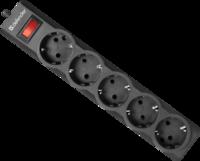 Сетевой фильтр 5 розеток черный 1.8M ES LARGO 5OUTL