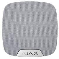 Ajax HomeSiren (white) Оповещатель звуковой радиоканальный (протокол Jeweller) уровень звукового давления 81...105 дБ; подключение внешнего светодиода; f-раб.868,7...869,2 МГц; дальность связи до 2000 м; 2 элемента питания 3 В CR123A; I-потр.70 мкА