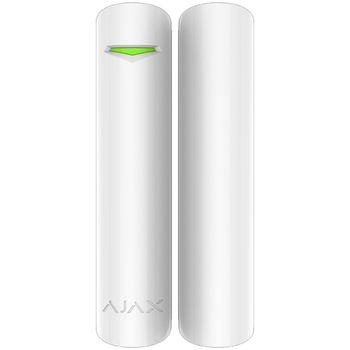 Ajax DoorProtect (white) Извещатель магнитоконтактный, радиоканальный (протокол Jeweller); расстояние срабатывания до 2 см; f-раб.868,7...869,2 МГц; дальность связи до 2000 м; элемент питания 3 В CR123A; t-раб.0...+50°C; в комплекте два магнита; белого цв