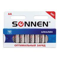 Батарейки алкалиновые SONNEN AA (LR6)