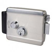 Atis lock SSM Накладной электромеханический замок с блокировкой, установка наружная/внутренняя, левая/правая, 12В/2,5А, кнопка выхода на замке (с защитой от продавливания)
