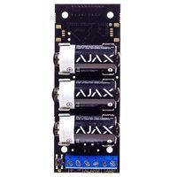 Ajax Transmitter Беспроводной модуль для подключения датчиков сторонних производителей к системе безопасности Ajax. Передает тревоги и предупреждает про срабатывание тампера внешнего датчика, снабжен собственным акселерометром, защищающим от демонтажа.
