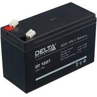 Delta DT 1207 Аккумулятор герметичный свинцово-кислотный 12В/7Ач, ножевые клеммы 4.8 мм (F1), 151х65х95мм, 2,3кг