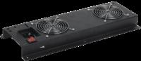 ITK FM05-21M, 2 вентилятора. Вентиляторная панель с выключателем без термостата,  470х280х44