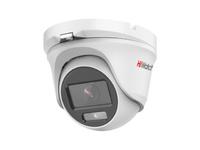 DS-T203L (3.6 mm) 2Мп уличная купольная HD-TVI камера с LED-подсветкой до 20м и технологией ColorVu