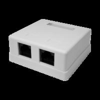Розетка компьютерная RJ-45, 8P8C, cat.5e, 2 порта UTP