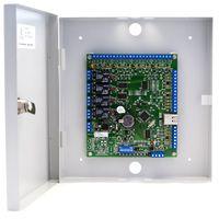 Sigur E500 Сетевой контроллер «Sphinx E500». Управление турникетом, двумя дверьми, воротами или шлагбаумом. Максимально до 7000 ключей, 500 временных зон и 40000 событий в автономной энергонезависимой памяти. Интерфейс связи Ethernet.