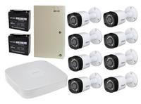 Комплект видеонаблюдения Dahua DH-XVR5108C-X / 8 камер Dahua DH-HAC-HFW1000RP-0280B-S3 с резервным питанием