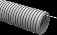 IEK CTG20-20-K41-100I Труба гофрированная ПВХ 20мм с протяжкой серая (100м)