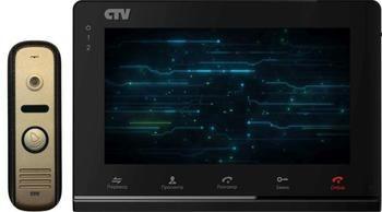 CTV-DP2700IP Комплект цветного IP-видеодомофона, 7'', сенсорная панель, до 2 панелей, видеозапись на microSD (32Гб), удаленное управление, Wi-Fi модуль, АС 100-240 В, 192x132x18 мм, панель 700 твл, угол обзора 88°(д), подсветка кнопки, -40° ~ +50°С