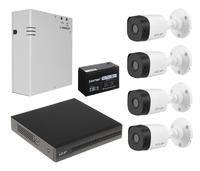 Комплект видеонаблюдения EZ-IP EZ-XVR1B04H / 4 камеры EZ-HAC-B1A21P-0360B с резервным питанием