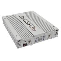 Репитер DS-1800/2100/2600-27. Трехдиапазонный усилитель сигнала сотовой связи в стандарте 2G GSM1800, 3G UMTS2100, 4G LTE1800, 4G LTE2600. Усиление 75±2 дБ. Мощность до 200 мВт (27дБм)