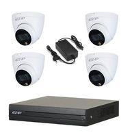 Комплект видеонаблюдения EZ-IP EZ-XVR1B04H / 4 камеры EZ-HAC-T6B20P-LED-0280B
