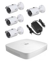 Комплект видеонаблюдения Dahua DH-XVR5104C-X1 / 4 камеры DH-HAC-HFW1220SP-0280B