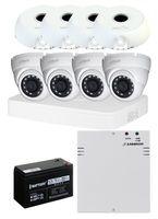 Комплект видеонаблюдения DH-XVR5104C-I3 / 4 камеры DH-HAC-HDW1200TRQP-A-0360B с резервным питанием