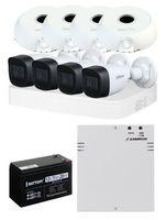 Комплект видеонаблюдения Dahua DH-XVR5104C-I3 / 4 камеры DH-HAC-HFW1200CP-0360B с резервным питанием