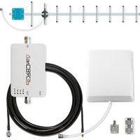 Комплект Далсвязь DS-1800-10С1, усилитель сотовой связи стандарта 2G GSM1800, 4G LTE1800, мощность 30 мВт, площадь покрытия до 100 м², в комплекте внешняя и внутренняя антенны
