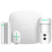 Ajax StarterKit Cam (white) – стартовый комплект системы безопасности с фотоверификацией тревог