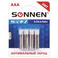 Батарейка алкалиновая Sonnen ААА 4шт блистер