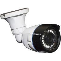 Tantos TSc-Pecof1 (2.8) 1280х720 25 к/с, AHD / TVI / CVI / CVBS видеокамера. ИК подсветка до 20 м, питание DC12В/300mA, -30...+55°С, 162x63 мм, IP-66