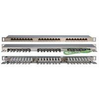 """Патч-панель 19"""", 24 портов RJ-45, категория 6e  PPHD-19-24-8P8C-C6SH-110D"""