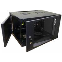Шкаф коммутационный Lanmaster Next (TWT-CBWNG-6U-6X4-BK) 6U 550x450мм пер.дв.стекл 60кг черный
