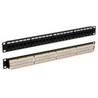 """Hyperline PP3-19-24-8P8C-C5E-110D Патч-панель 19"""", 1U, 24 порта RJ-45, категория 5e, Dual IDC, ROHS, цвет черный"""