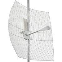 KNA27-1700/2700 BOX - параболическая MIMO антенна 27 дБ с гермобоксом, рабочий диапазон частот1700-2700МГц, 50 Ом, разъём SMA-male, допустимая ветровая нагрузка 25 м/с