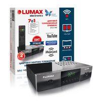 Lumax DV-3211HD эфирный цифровой ресивер , T2+C, GX чип, дисплей, Wi-Fi, Dolby, HDMI ,3xRCA, 2xUSB, метал.корпус, 7 кнопок, 5В