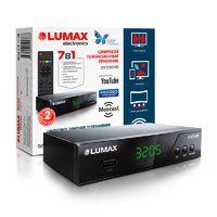 Lumax DV3205HD эфирный цифровой ресивер , T2+C, GX чип,220В, дисплей, Wi-Fi, Dolby, HDMI,3xRCA, 1xUSB, метал.корпус, 3 кнопки