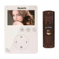"""FE-PLUS Комплект видеодомофона состоит из FE-VELA Цветной видеодомофон TFT LCD экран 4.3"""", сенсорные кнопки; 2 панели вызова и 2 камеры, адресный интерком, управление замком, питание 220В AC, + AVP-508 (PAL) накладная медь, 600ТВл, угол обзора 75"""
