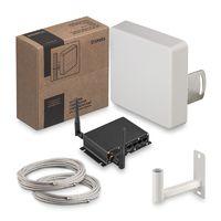Комплект 3G/4G интернета KSS15-3G/4G-MR MIMO, в составе комплекта: антенна 3G/4G KAA15-1700/2700F усилением 15 дБ и WiFi роутер со встроенным 3G/4G модемом Kroks Rt-Cse4 sHW, кабельная сборка F(male)-F(male) 10 метров - 2 шт., кронштейн KH-200, метизы