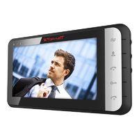 """Монитор видеодомофона TR-33M W, 7"""" цв., hands free, память до 200 кадров, до 4 мон., 2 дверн.блока, 2 камеры, входы тревожных датчиков, черный"""