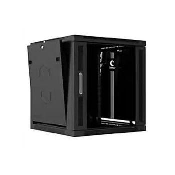"RM-W0-06-01. Naimexx Шкаф настенный 19"" 6U 520х400мм, стеклянная дверь, черный (Lite)"