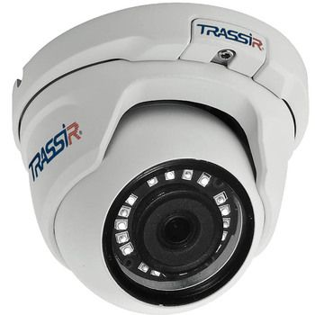 TRASSIR TR-D8141IR2. Телекамера IP 4 Мп купольная; 1/3'' CMOS,кодек H.265, объектив 2.8мм или 3.6мм, встроенный микрофон, питание 12В DC или PoE (802.3af), -40°C … +60°C, IP66, ИК-подсветка до 20м. ПО TRASSIR в подарок.