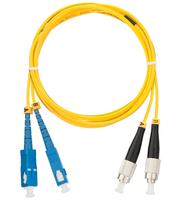 Шнур NIKOMAX волоконно-оптический, переходной, одномодовый 9/125мкм, стандарта OS2, SC/UPC-LC/UPC, двойной, LSZH нг(В)-HFLTx, 2мм, желтый, 2м