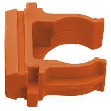 Крепеж-клипса оранжевая d20мм Plast PROxima