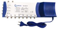 Мультисвитчинг LUMAX MS-5801P, 1 вход ANT 5-860 МГц, 4 входа SAT LNB V/H 0/22 кГц 950-2150 МГц, 8 выходов, потери 5/3 дБ, 90-240В AC